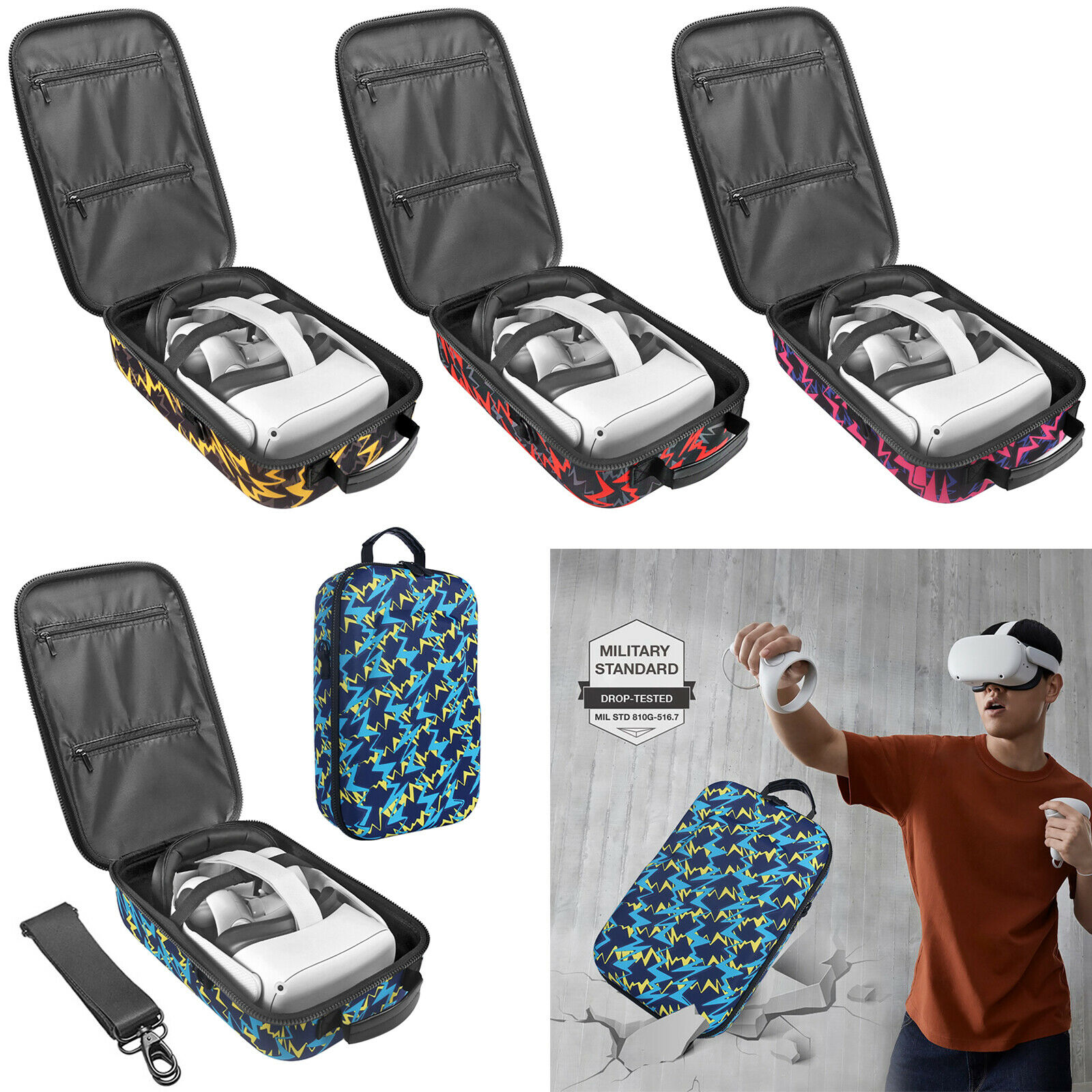 Storage Bag Cover Pouch Carrying for Oculus Quest 2 All-In-One VR Gaming Headset