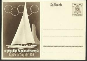Vintage Postcard- Germany- Olympic Sail Races 1936, Unposted