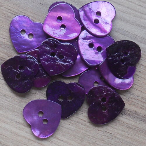 """MOTHER OF PEARL AKOYA HEART SHAPED SHELL X 5 BUTTONS BEST QUALITY 15MM- 19//32/"""""""