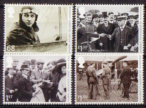 100% Vrai La Grande-bretagne 2011 Premier Royaume-uni Poste Aérienne Ensemble De 4 Timbres Um, Neuf Sans Charnière