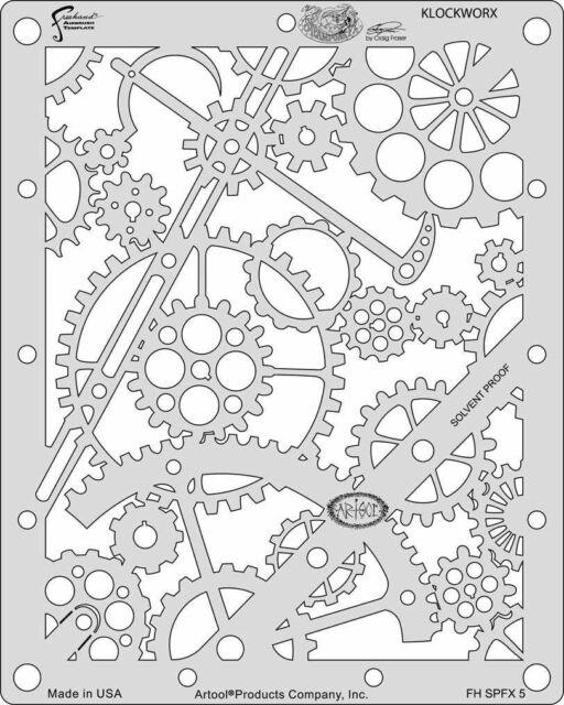 artool freehand airbrush templates steam punk fx template