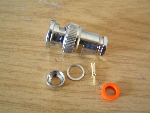 BNC 50 Ohm Line plug Easy Assembly 3 PIECES OM0734