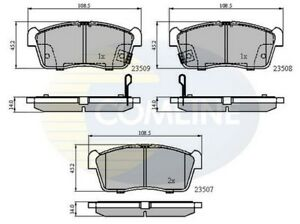 Comline-Front-Brake-Pad-Set-CBP31113-BRAND-NEW-GENUINE-5-YEAR-WARRANTY