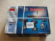 Bosch CLPK495-181 4-Tool 18-Volt Lithium Ion Cordless Combo Kit w/ Soft Case NEW