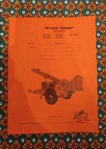 Details about Asplundh Whisper Chipper Operator Manual JEY412, JEY612,  JEYD16, JEYS12, JEYD12