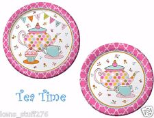 "Tea Time Plates, Birthday Party, Baby Shower, 16p Creative Converting 7"" & 9"""