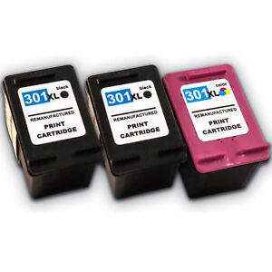 3x Druckerpatronen für  HP 301 XL Deskjet 1000 1010 1510 2510  2540 bei Nano