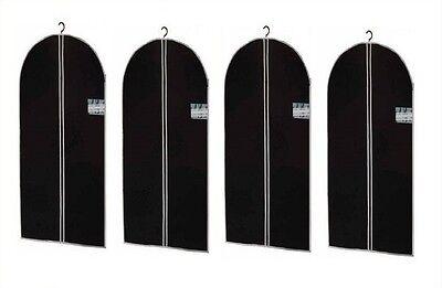 4x Kleidersack Kleiderhülle Kleidersäcke Kleider Hülle Schwarz 150 X 60 Cm Exzellente QualitäT