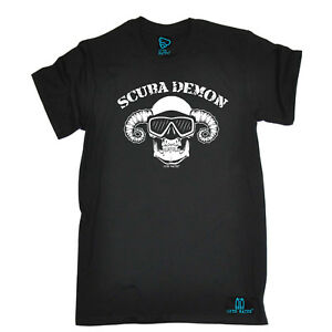 Scuba-Diving-T-Shirt-Funny-Novelty-Mens-tee-TShirt-Scuba-Demon