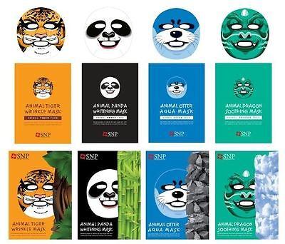 SNP Animal  facial Mask Pack Dragon Otter Panda Tiger beijing opera (25mlx2pcs)