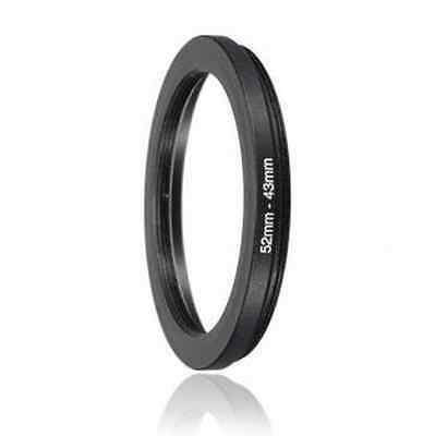 43mm to 52mm Male-Female Stepping Step Up Filter Ring Adapter 43-52 43mm-52mm UK