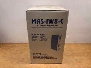 NEW-MAS-8-034-In-Wall-Speaker-Pair-80-Watts-8Ohms-White-MAS-IW8-C