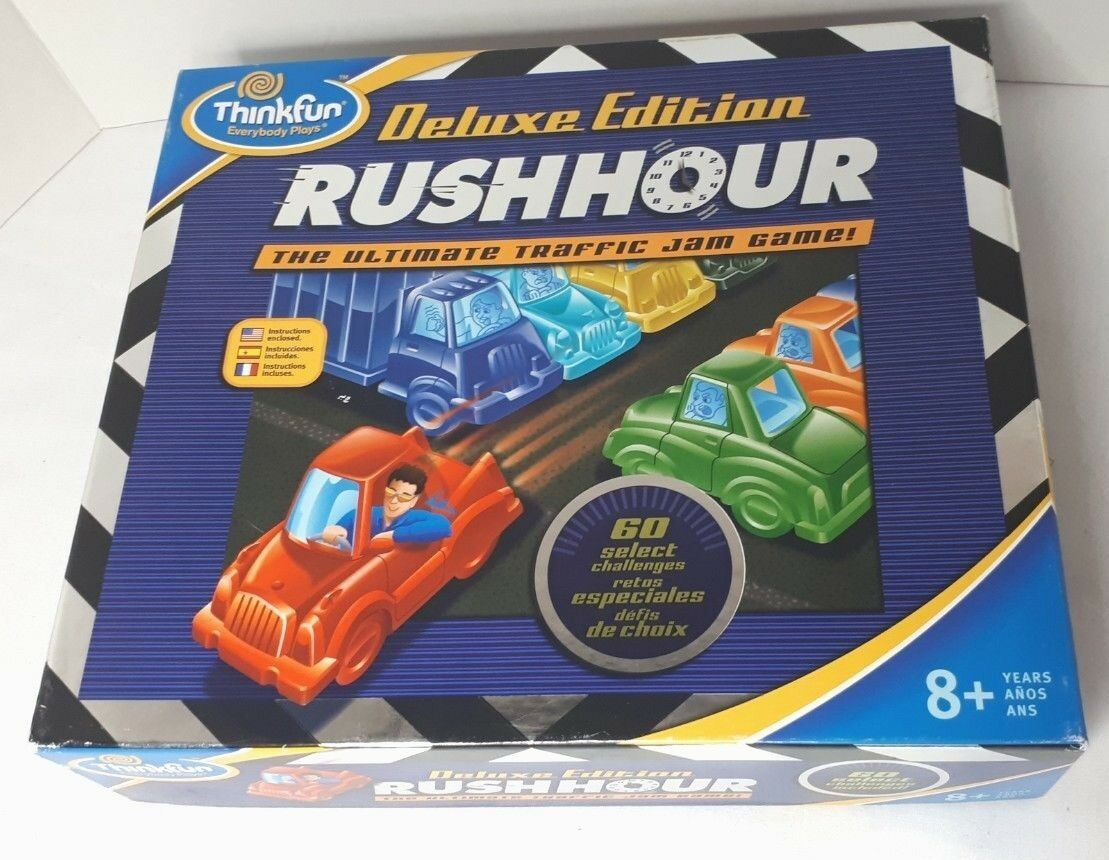 Rush Hour Deluxe Edition The Ultimate Traffic Jam Game By Thinkfun 2006 Complete