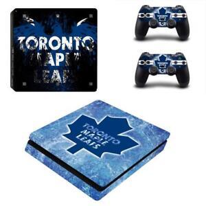 Humoristique Ps4 Slim Console Controller Skin Nhl Toronto Maple Leafs Leads Vinyl Skin Decals Vente Chaude 50-70% De RéDuction