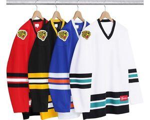 SUPREME Freaky Hockey Jersey Black White M Box Logo Camp Cap Tnf S