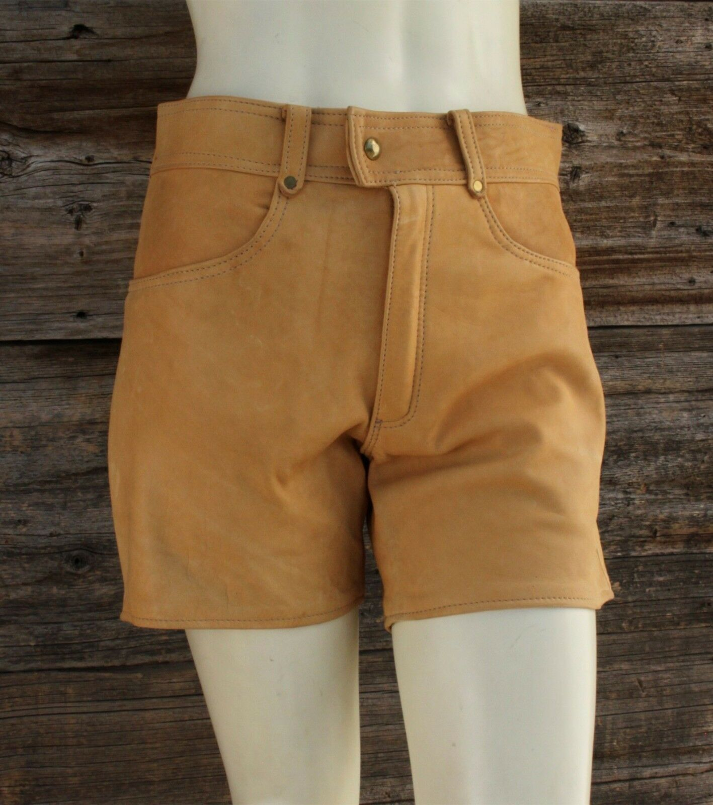 Real Hand Made Deer Skin Leather Shorts by Skin Company Productions  30x5