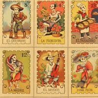 By Yard-cartas Marcadas Day Dead Fabric Alexander Henry Fabric 7666c Tea