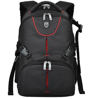 Delux Shockproof DSLR Camera Backpack Bag Case For Nikon Canon Sony+Rain Cover