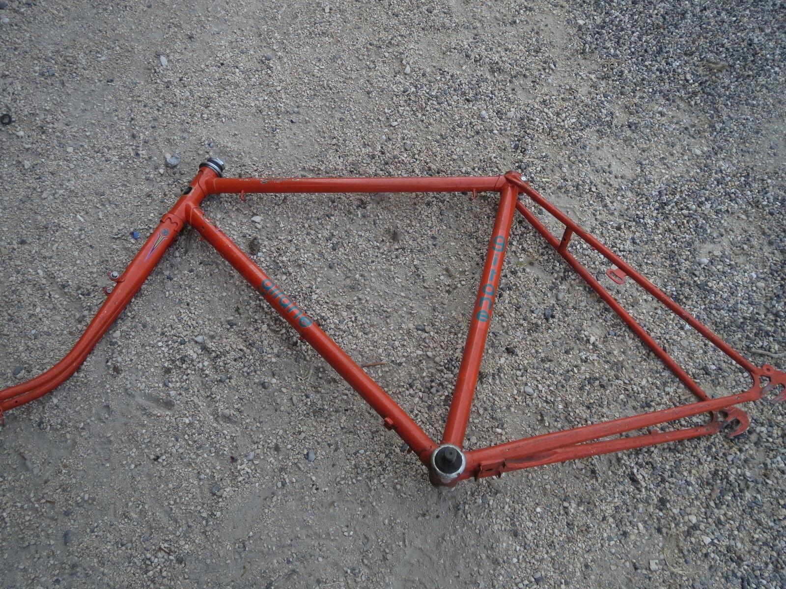 Ancien cadre de vélo acier vintage Naranja Gitane 80s french antique bike frame