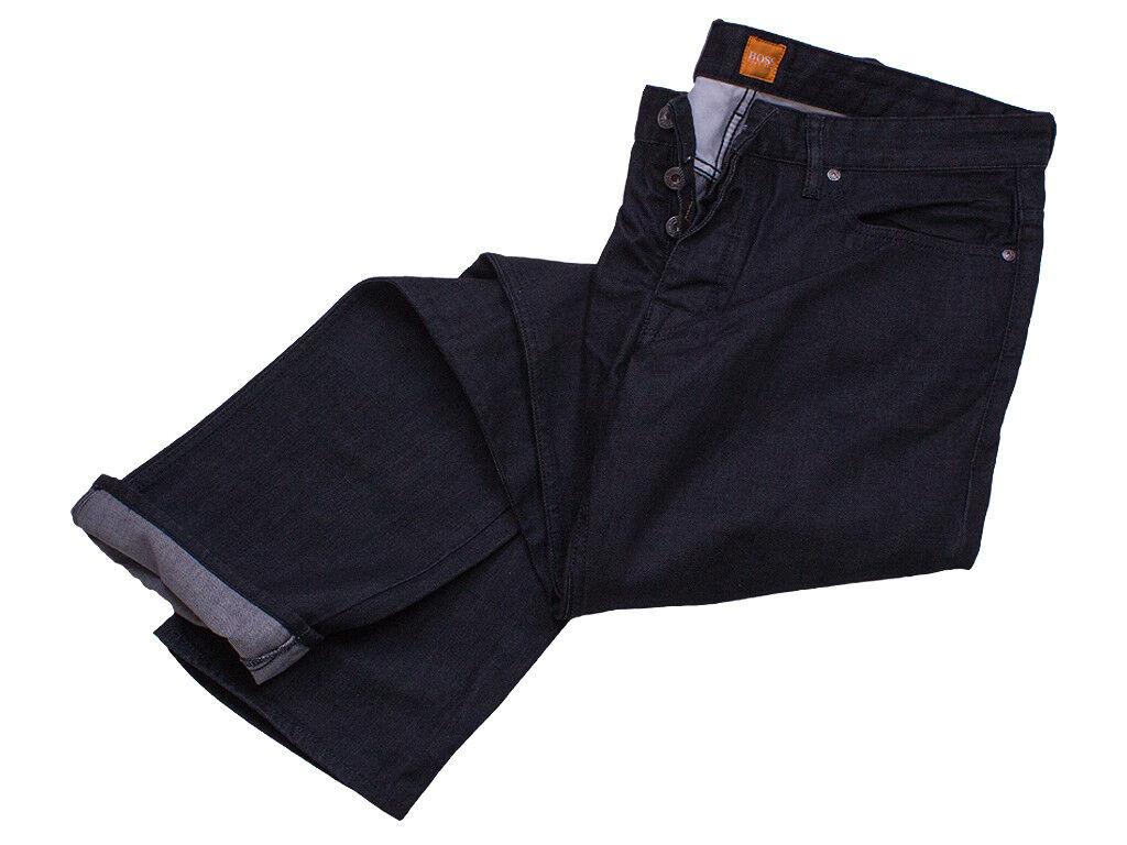 Hugo Boss Jeans W38 L36 Orange25 schwarz Regular Fit Baumwolle Denim orang Label