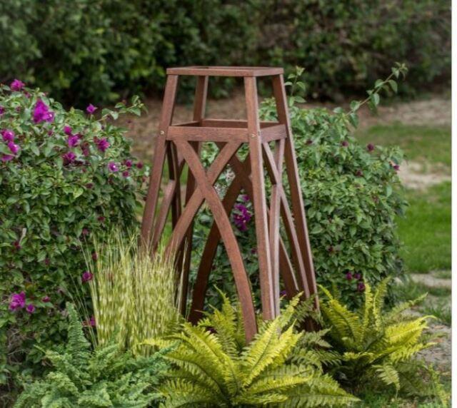 Outdoor Garden Trellis Obelisk Wood Climbing Plants Vines Backyard