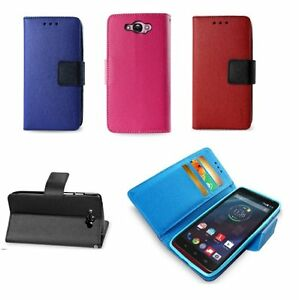 For-Motorola-Droid-Turbo-XT1254-PU-Leather-ID-Card-Wallet-Flip-Pouch-Case-Cover