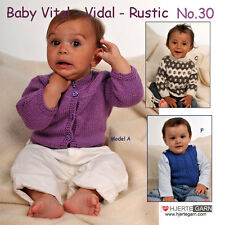 HJERTEGARN BABY №30 Heft mit 7 süßen Baby-Modellen aus Dänemark Reborn Stricken