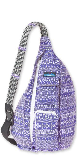 KAVU Rope Bag Purple Pattern 2day Ship