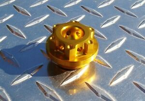 BMW S1000RR Billet Oil Cap / Plug - GOLD Anodized Filler Plug - S1000R / HP4