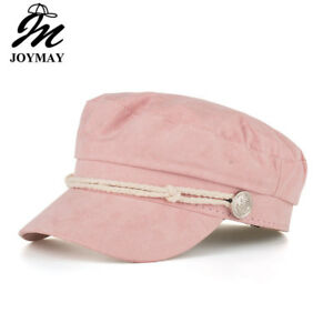 c0d8c030b Details about AKIZON Military Hat Caps Beret Winter Hats For Women Men Pu  Leather Brim Wool