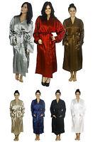 Men's Sleepwear Nightgown Silk Satin Pajama Long Robe 8 Colors