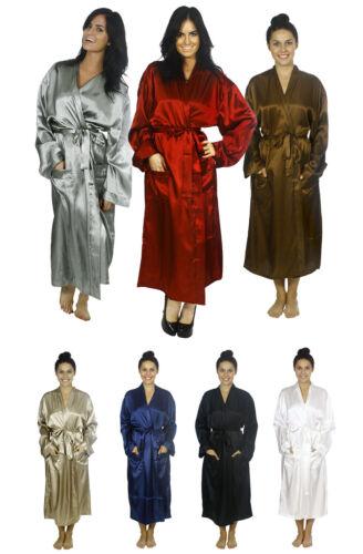 New Men/'s Sleepwear Nightgown Silk Satin Pajama Long Robe 8 Colors