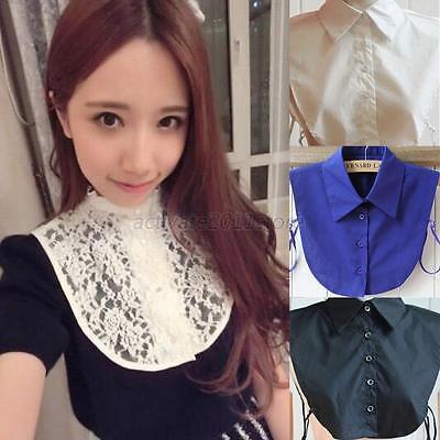 New Peter Pan Women Detachable Lapel Shirt Fake False Collar Choker Necklace A86