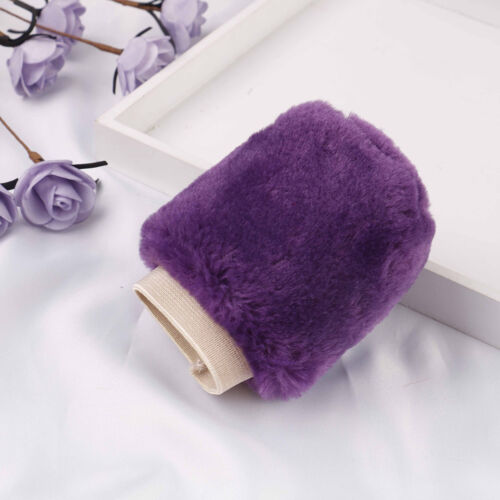 3Pcs//set Winter purple warm plush car steering wheel cover handbrake covers HGUK