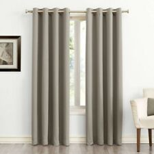 "2pk SUN ZERO Kenneth Grommet Top Blackout Curtain Panels54/""x63/""StoneNWT"