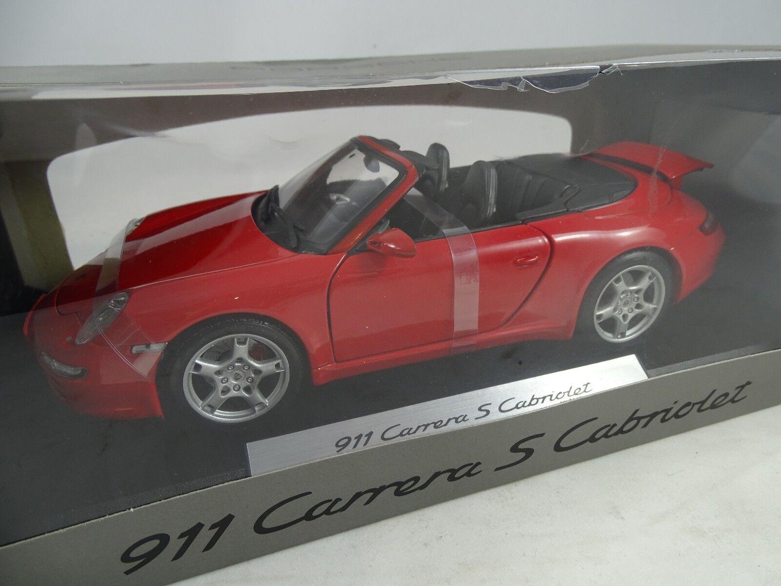 1 18  Dealermodell Porsche 911 Carrera S Cabriolet red  RARITÄT §