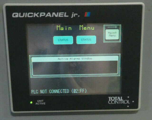 Total Control Quickpanel Jr Qpj Abd 201 Touch Screen Operator Interface Ebay