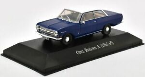 Opel-Rekord-A-1963-Blue-1-43-Scale-Car-with-Display-Case