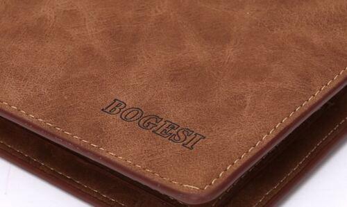 Portafoglio uomo pelle di lusso in grigio//Bogesi//UK Shop Veloce Dispatch e la consegna
