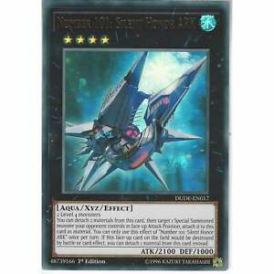 3 x NM Number 101: Silent Honor ARK DUDE-EN017 Ultra Rare 1st Edition Yu-G
