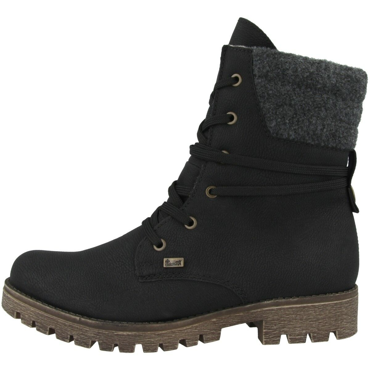 Black Bottine Rieker Chaussures Boots Bottes Femmes Mombasa Feutre qwqv8f7