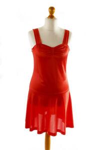 CompéTent Vintage Orig 60er Mini-robe Robe Rouge Stretch Non Porté Disco Young Club M-afficher Le Titre D'origine éLéGant Et Gracieux