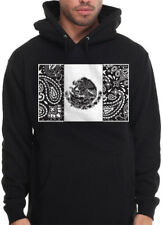 Mens Aztec Eagle Bird Hoodie Chicano Power Cholo Mexican OG Hooded Sweatshirt