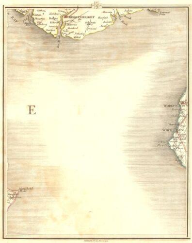 Workington Whitehaven St Bees Head CARY 1794 map CUMBRIA /& KIRKCUDBRIGHT COAST