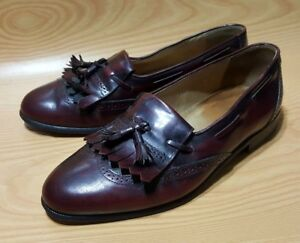 Nordstrom-Made-in-Italy-Cordovan-Tassel-Loafers-Shoes-8-W-Mens