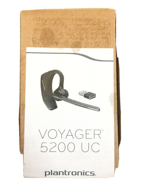 Plantronics 206110 101 Voyager 5200 Uc Black Mono Bluetooth Headset System For Sale Online Ebay