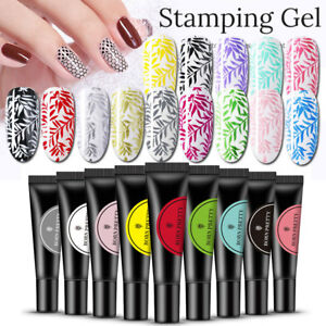 BORN-PRETTY-Nail-Art-Glitter-Stamping-UV-Gel-Polish-Pure-Gel-Silver-Soak-Off-DIY