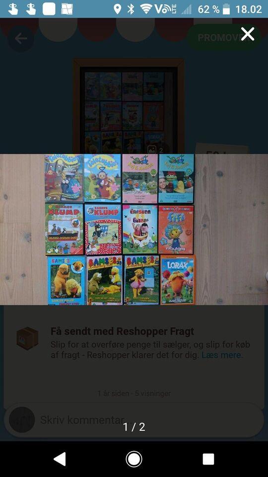 Blandet børnefilm, DVD, tegnefilm