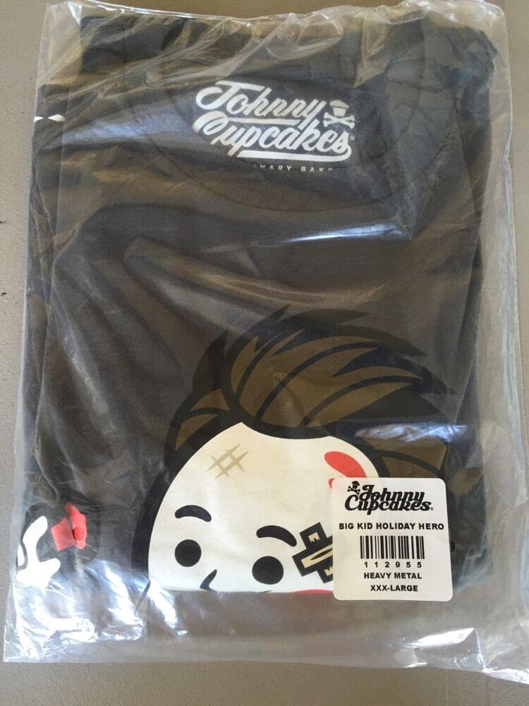 Men's New Johnny Cupcakes Big Kid Holiday Hero Die Hard T-Shirt size XXXL 3X