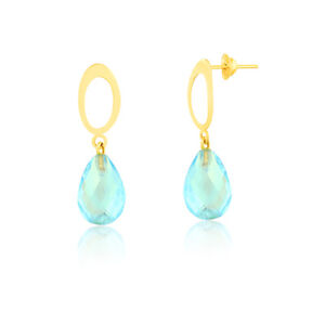 Natural-Topaz-Stone-Drop-Dangle-Earrings-18k-Yellow-Gold-for-Women-and-Girls